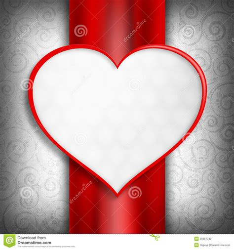 blank valentines card template happy s day card template stock illustration