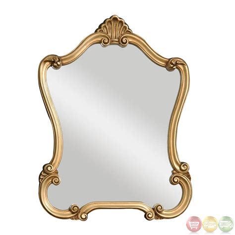 gold bathroom mirror walton hall traditional lightly distressed gold leaf