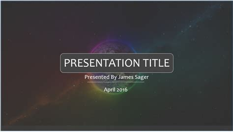free cool space powerpoint template 7874 sagefox