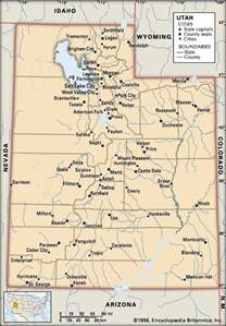 Utah Map With Cities by Utah Cities Kids Encyclopedia Children S Homework
