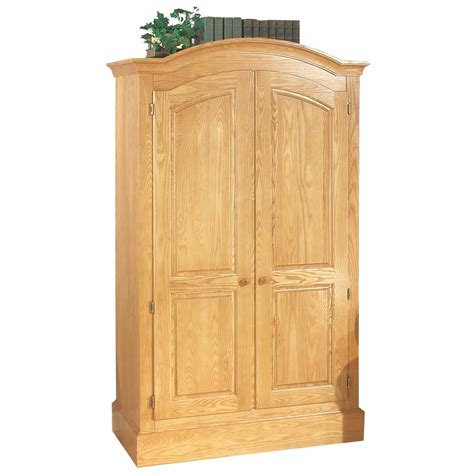 mission style armoire armoires mission style light natural ash armoire 72 h x 43 w