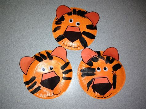 tiger paper plate craft www imgkid the image kid