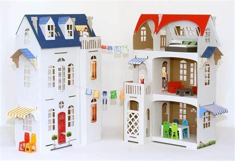 doll house ta kids will love decorating the villa cartabianca cardboard dollhouse inhabitots