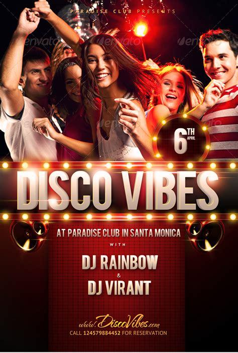 template flyer disco disco vibes party flyer template psdbucket com