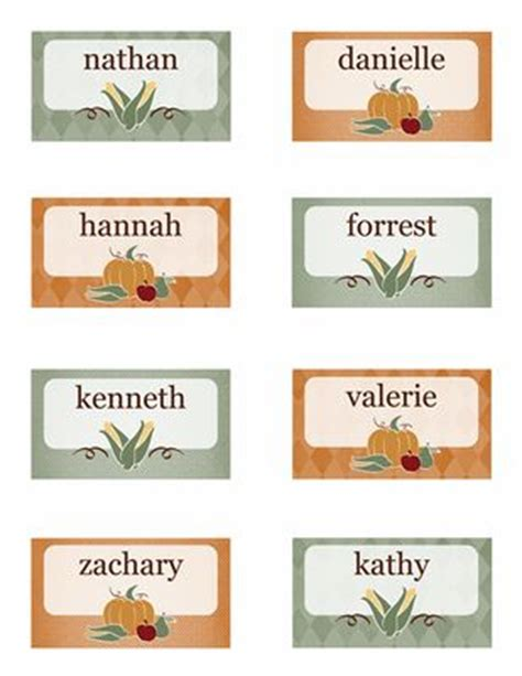 name card fall templat 2 x 3 1 2 the world s catalog of ideas