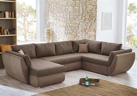 U Form Braun by Wohnlandschaft Couchgarnitur Sofa U Form Braun