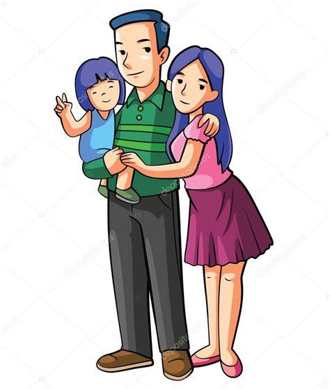 imagenes de la familia brief ilustraci 243 n de dibujos animados familia feliz vector de