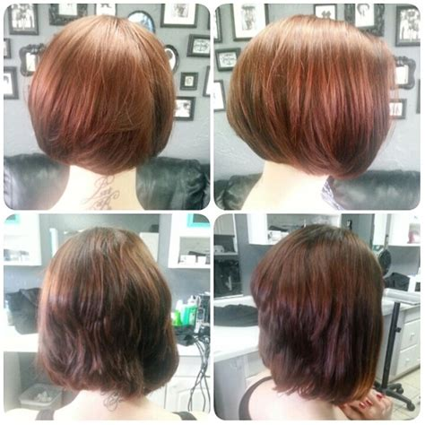 haircut before or after gym rounded corrective bob haircut with before and after