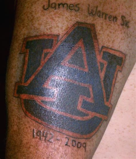 auburn tattoo photos sec football fans team tattoos saturday south