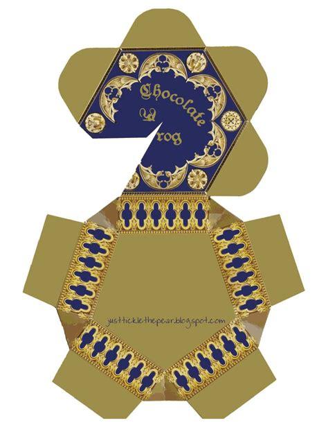 Chocolate Frog Box Template With Cards by Chocolate Frog Box Pdf Harry Potter D