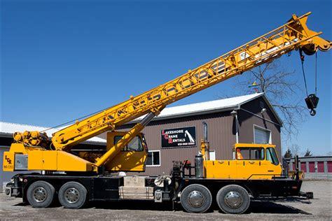 mobile crane rental lakeshore crane rentals crane rentals attachments