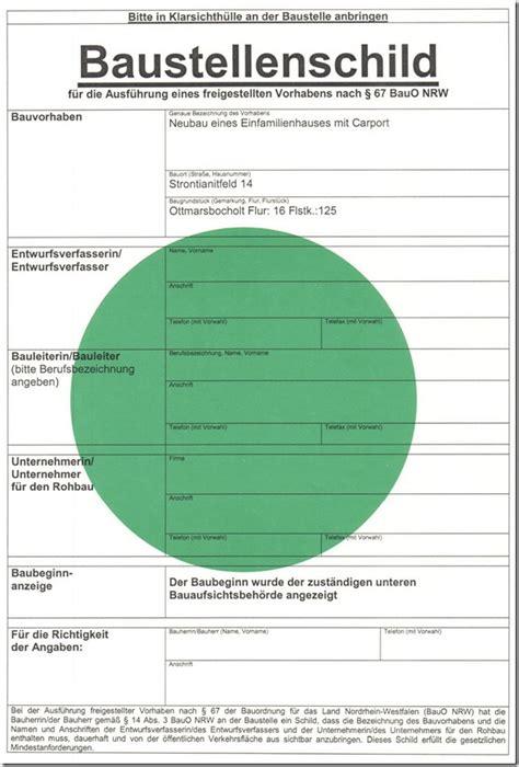 Baustellenschild Licht by Planung Baublog B 252 Denbender