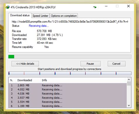 1 megabit per second download speed