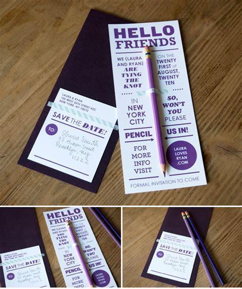 Save the date ideas   customized pencils   Junebug Weddings