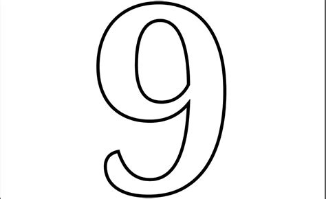 coloring pages of number 9 free coloring pages of bubble number 9