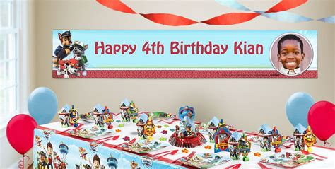 custom paw patrol birthday banners party city