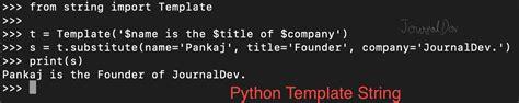 python string template python string module journaldev