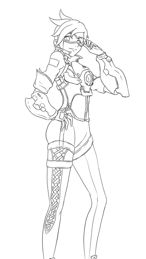 overwatch coloring book 1945683066 overwatch tracer coloring pages sketch coloring page