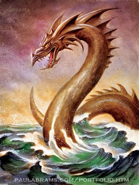 sea serpent by paulabrams on deviantart