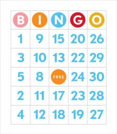 free printable bingo cards template sle bingo card 11 documents in pdf word