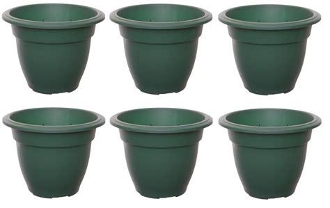 Big Plastic Flower Pots Large 38cm Bell Plant Pots Planters Plastic Green