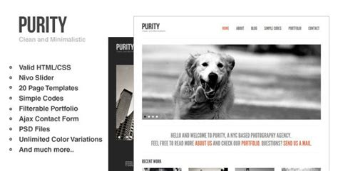 50 Powerful Minimalist Website Templates Web Graphic Design Bashooka Minimalist Web Templates