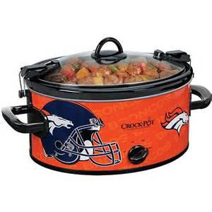 walmart crock pot sale crock pot 6 quart nfl cooker denver broncos 39 92