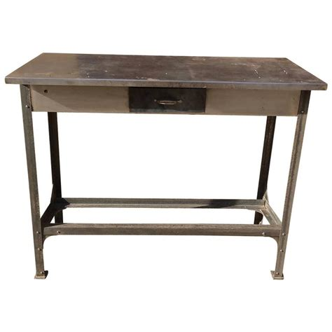 metal work bench for sale industrial brushed steel work bench table for sale at 1stdibs