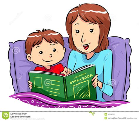 bed story bedtime story time clipart