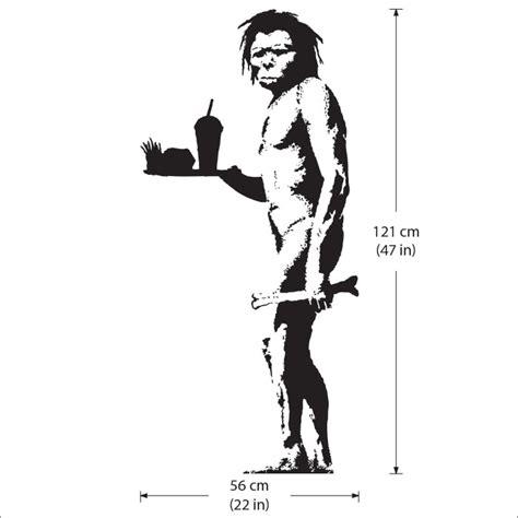 Wandaufkleber Banksy banksy caveman wandaufkleber wandtattoo
