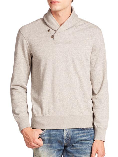 Polo Collar Pullover polo ralph fleece shawl collar pullover sweater