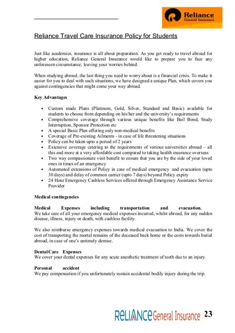 Reliance General Insurance Letter Of Indemnity Format Reliance General Insurance Car Form 44billionlater