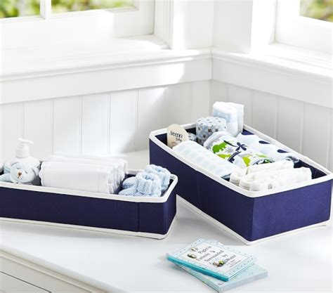 Navy Changing Table Navy Canvas Changing Table Storage Pottery Barn