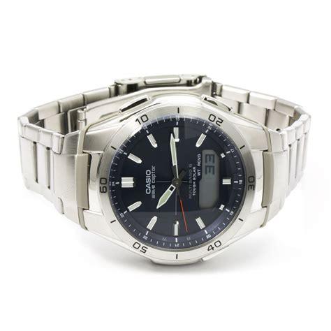 orologio casio argento casio waveceptor orologio da uomo argento wva m640d 2aer
