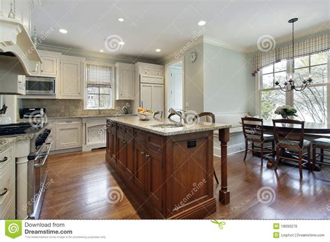 kitchen island eating area kitchen with center island royalty free stock image