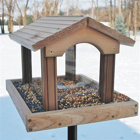 woodlink premier cedar feeder pro4 bird feeder new ebay
