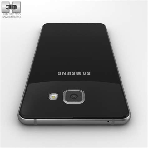 3d Samsung A7 2016 samsung galaxy a7 2016 black 3d model hum3d
