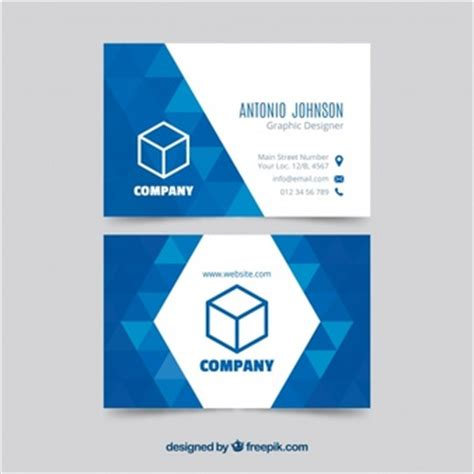 calling card size template triangle logo vectors photos and psd files free