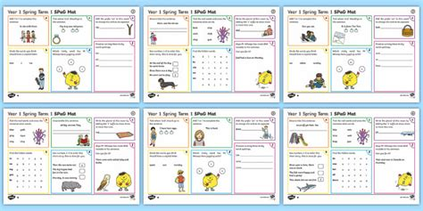 year 1 term 1 spag activity mats spag spelling