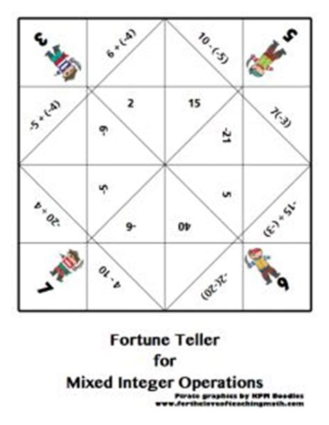 multiplication fortune teller template image collections