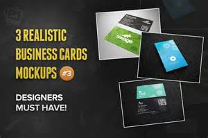 3 Realistic Business Cards Mockup Templates by 3 Realistic Business Card Mockups 3 Product Mockups On