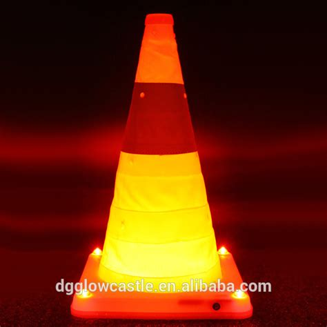 led light rechargeable reflective traffic cone buy