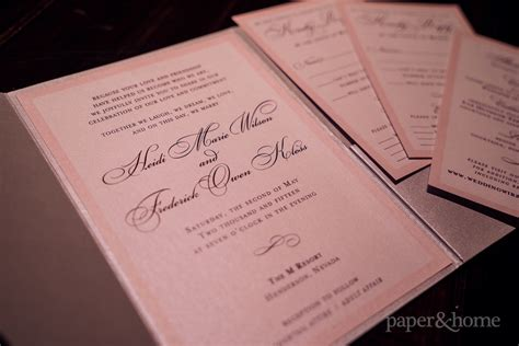 Classic Wedding Invitations by Classic Wedding Invitations Heidi And Frederick Paper