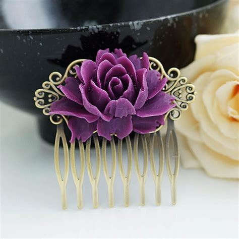 Vintage Purple Wedding Hair Accessories wedding hair accessories bridal hair comb bridal hair