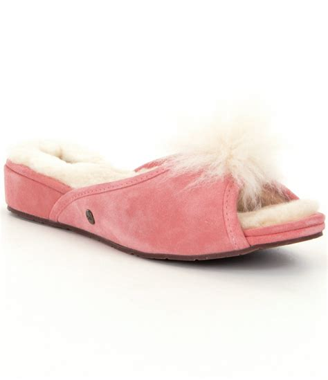 ugg slippers pink ugg 174 yvett slippers in pink lyst