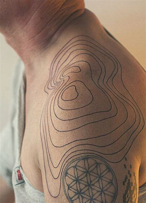 tattoo body contour 40 fictional topographic tattoo inspirations