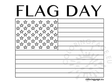 american flag memorial day coloring page