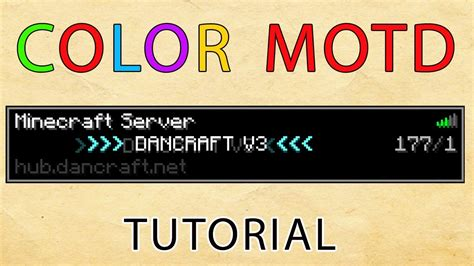 motd color codes minecraft color server motd plugin tutorial