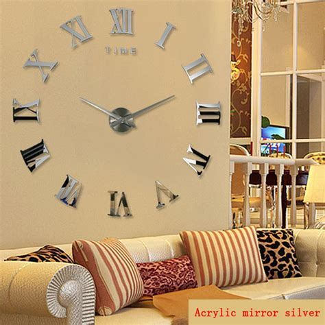 2016 new style large modern art decoration diy 3d wall promotion 2016 new home decor large roman mirror fashion
