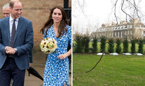 where do william and kate live prince william and kate plant hedge at kensington palace